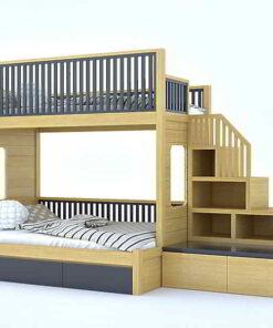 giường tầng gỗ sồi